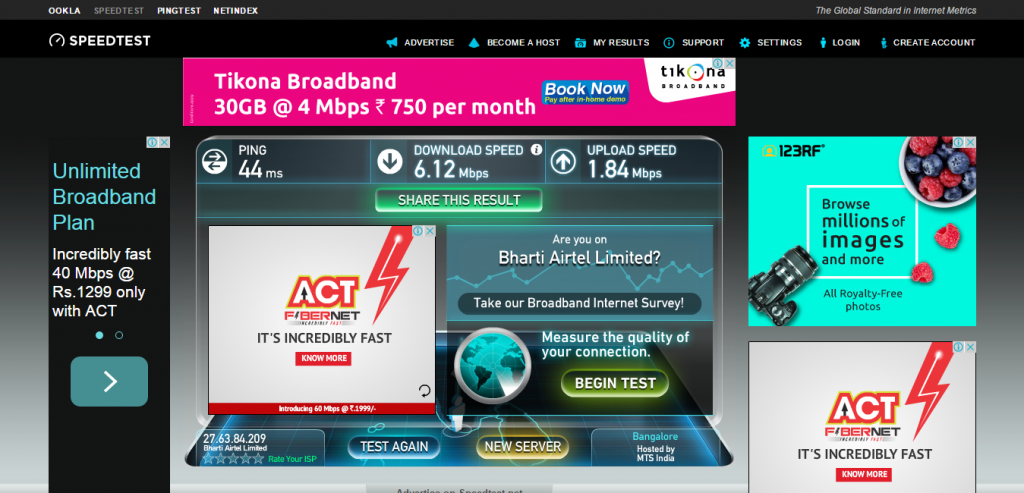 Speedtest.net by Ookla   The Global Broadband Speed Test