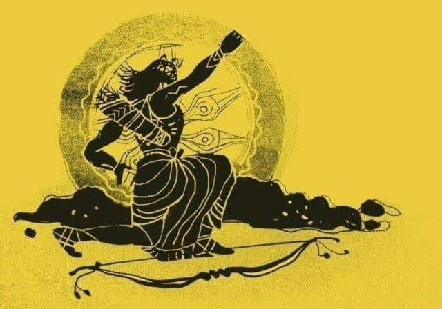 Karna the great archer in Mahabharatha